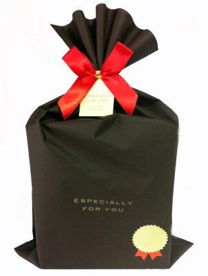 ラップング・プレゼント用☆ラッピング袋・リボン・金のシールのセット♪