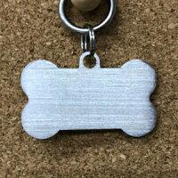 犬猫迷子札ステンレス製骨型<両面刻印>ペットグッズ刻印名入れ代金込み名札愛犬迷子札犬猫防犯脱走対策名札ステンレス製ペットネームプレート(板厚2mm)ペット骨型チャームかわいいチャーム
