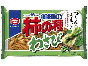 亀田製菓 亀田の柿の種 わさび 6袋詰