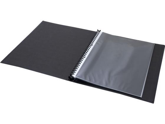 Gクラッセ/モノクローム クリアーファイルハーフ差替式 A4 30穴 背幅20mm 黒