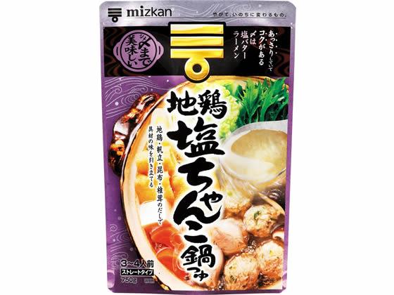 ミツカン/〆まで美味しい地鶏塩ちゃんこ鍋つゆストレート750g