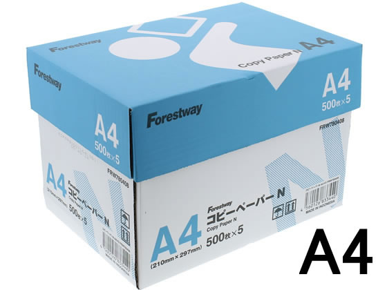 Forestway/コピー用紙N A4 500枚×5冊