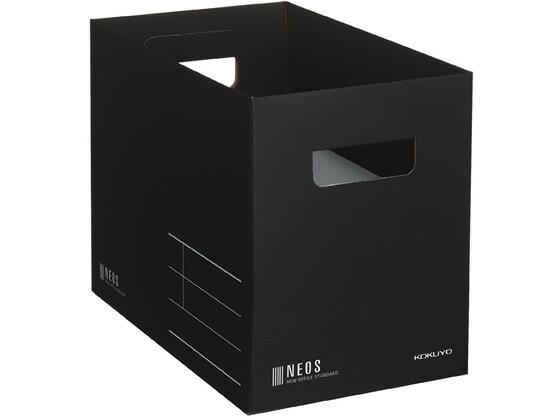 コクヨ/収納ボックス〈NEOS〉A4 Mサイズ ブラック/A4-NEMB-Dの写真