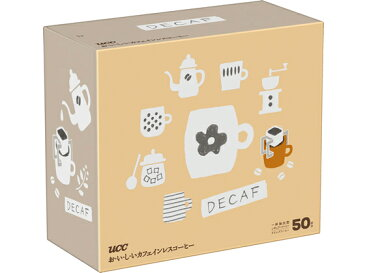 UCC/おいしいカフェインレスコーヒードリップコーヒー50P/350328
