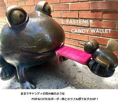 LファスナーCANDYSLIMウォレット日本製牛革ボーダー
