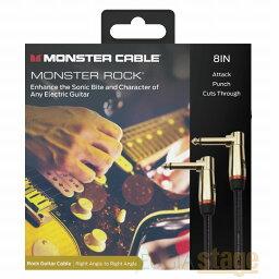 MONSTER CABLE MONSTER ROOK 2-0.75 DA (プラグL/L・0.75FT・約22cm) モンスターケーブル モンスター ロック シールド ケーブル 【Stage-Rakuten Guitar Accessory】