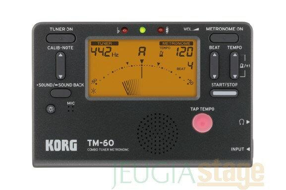 アクセサリー・パーツ, チューナー KORG TM-60 BLACKCOMBO TUNER METRONOME Stage-Rakuten Guitar Accessory