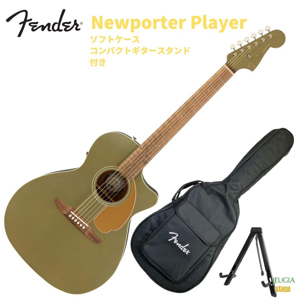 ギター, エレアコギター Fender Newporter Player Walnut Fingerboard Olive Satin