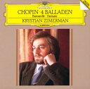 クリスチャン・ツィメルマン「ショパン: 4つのバラード、幻想曲、舟歌」クラシック