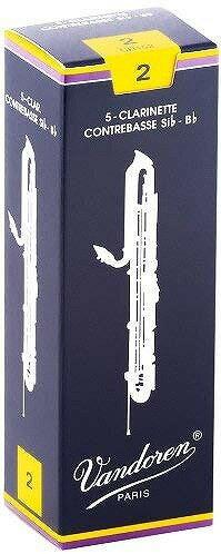 Vandoren REED TRADITIONAL Contrabass Clarinet 5枚入りバンドレン コントラバスクラリネットリード トラディショナル 青箱 硬さ:2