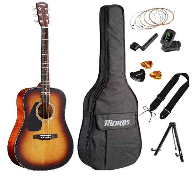 ギター, アコースティックギター MORRIS M-350LH TS