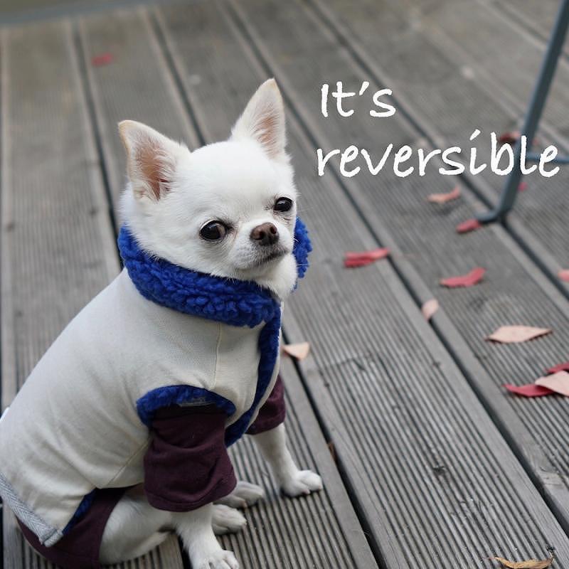 Louis Dog (ルイスドッグ/ルイドッグ)Ms. n Mr. Smiles Vest【小型犬/アウター/アウター/ダウンジャケット/コート/防寒/保温/犬服】