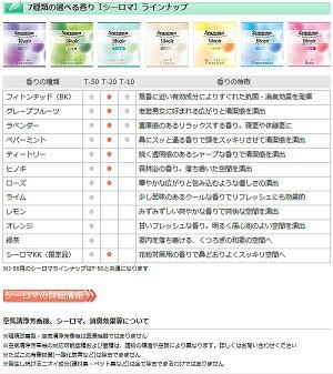 (中身/カートリッジ)家庭用環境改善型香り発生機「シルヴェールT-20用」消臭/抗菌/アロマ/芳香/リラックス/ペット臭除去/空気洗浄