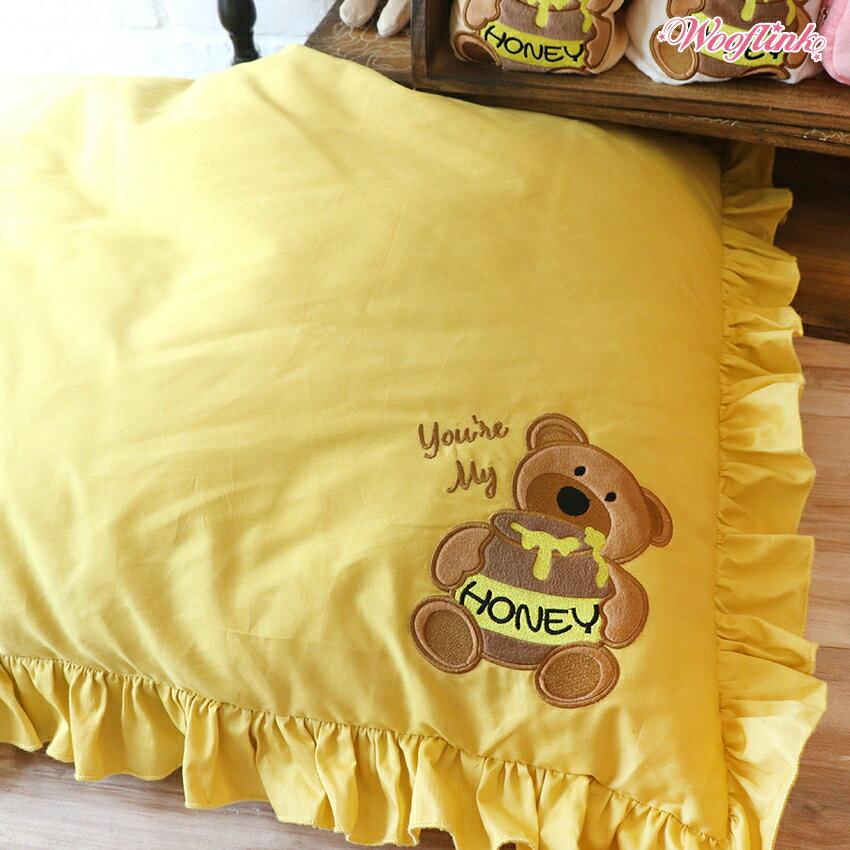 【WOOFLINK】ウーフリンク YOU'RE MY HONEY BED BED(ベッド/犬ベッド/クッション/カドラー/フリル/レース/くま/ベア)