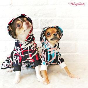 【WOOFLINK】(ウーフリンク)HIPPOOCH'SHOODIE【犬服小型犬スウェットカジュアルトレーナーパーカーグラフィック】