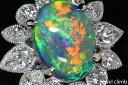 【特別価格】高品質ブラックオパール6.18CTダイヤモンド1.95CTプラチナリング 2