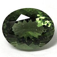 独特で鮮やかな彩りを持った結晶モルダバイト・ルース3.49CT