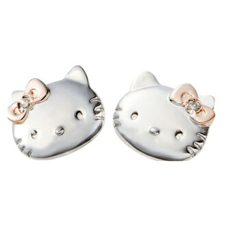 Hello Kitty Hello Kitty & Mimi's simple face earrings genuine diamonds gleaming! Silver 925 hellokity Kitty-Chan toy accessories pierce present gift Christmas wrapping fs3gm