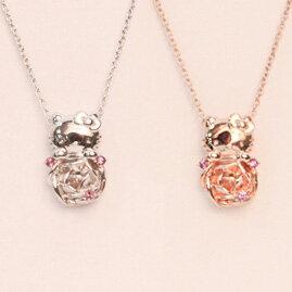 Hello Kitty × 李家幽竹 ローズアメシストペンダント(フェイス)HELLO KITTY ネックレス 【楽ギ...