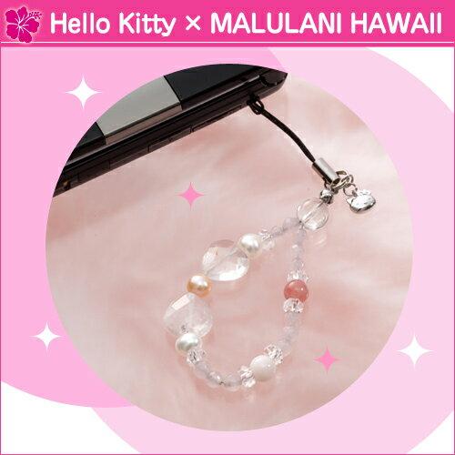 Hello Kitty×MalulaniHawaiiストラップ★天然石 パ...