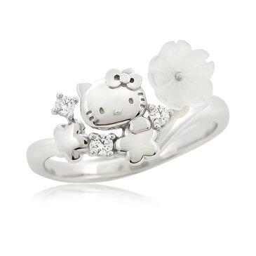 ハローキティ リング Flower Bouquet Hello kitty ring 大人 グッズ 花 シェルキティちゃん マザーオブ パール 指輪 キティ レディースジュエリー アクセサリー ギフト 誕生日 プレゼント 記念日 女性