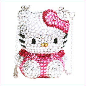 Hello Kitty Hello Kitty Swarovski rocket charms Kitty baby accessories gifts gift Christmas wrapping fs3gm