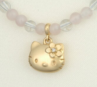Hello Kitty HELLO KITTY gold ダイヤローズクォーツネックレス Kitty baby accessories Gifts Christmas gift wrapping