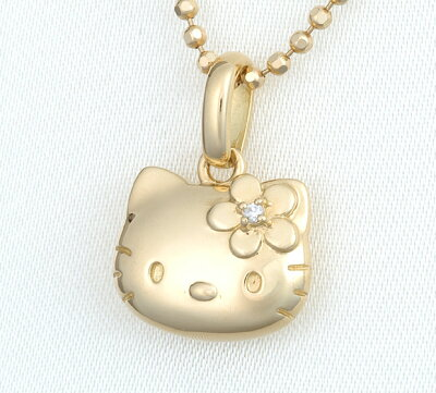 ご注文承り後 ひとつひとつ製作いたします【送料無料】ハローキティ HELLO KITTY18金ダイヤフ...