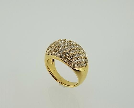 K18 パヴェ ダイヤモンドリング【smtb-tk】【tokai_gw_shippingfree0501】
