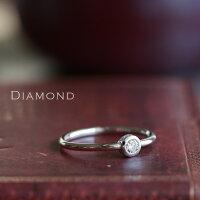 ホワイトゴールドリングレディースk1818金ダイヤモンド0.1ctリングDEVAS
