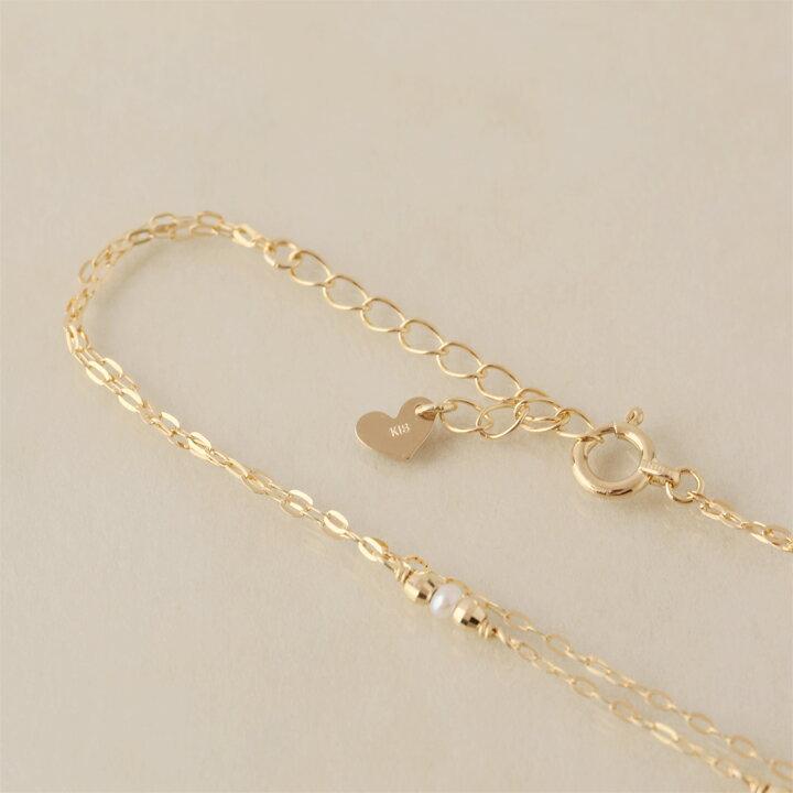 18金 ゴールド ブレスレット2連ブレスレット レディース天然石 パール K18 18K     プレゼント DEVAS ディーヴァス