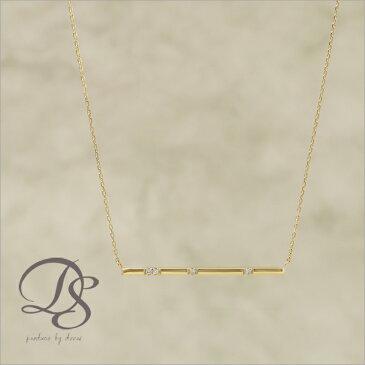 K18 ゴールド ネックレス チョコバー(ショート) ダイヤモンド 4石 レディース 18K 18金 プレゼント DEVAS ディーヴァス