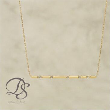 K18 ゴールド ネックレス チョコバー(ロング) ダイヤモンド 6石 レディース 18K 18金 プレゼント DEVAS ディーヴァス