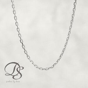 プラチナ チェーン メンズ ネックレス レディース platinum Pt850 あずき チェーン 1.3mm 幅 4面カット 小豆 華奢 シンプル 男性 女性 ギフト ジュエリー アクセサリー 誕生日 プレゼント 贈り物 金属アレルギー対応 DEVAS ディーヴァス