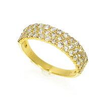 K18イエローゴールドダイヤモンドパヴェリング