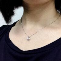 Pt900ダンシングストーンダイヤモンドネックレス