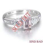 ピンクダイヤのリング