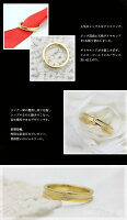 K18YGダイヤモンドクロスリングメンズ