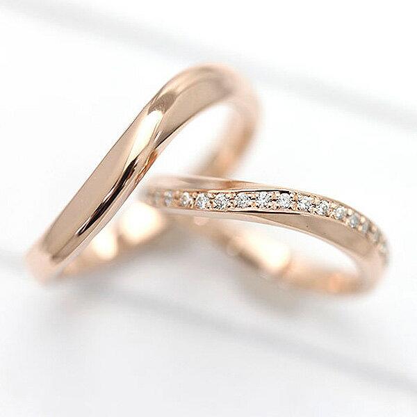 ブライダルジュエリー・アクセサリー, 結婚指輪・マリッジリング  2 K18PG S 0.10ct