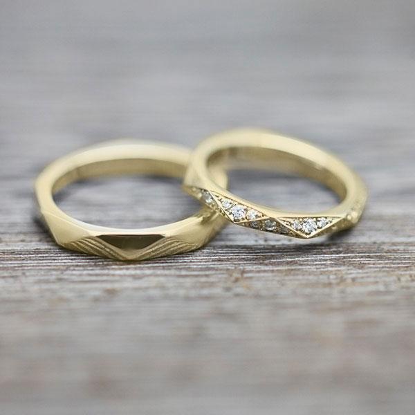 ブライダルジュエリー・アクセサリー, 結婚指輪・マリッジリング 726 5 2 K18YG 0.27ct