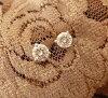 ◆送料無料◆K18ホワイトゴールドダイヤモンドピアス