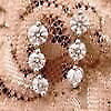 ◆送料無料◆◆即納◆【THELAZAREDIAMOND】ラザールダイヤモンド3ストーンピアス