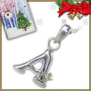 911301クリスマスカード付ジュエリーイニシャルモチーフペンダント「A」