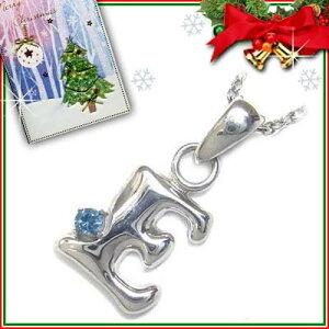 911305クリスマスカード付ジュエリーイニシャルモチーフペンダント「E」