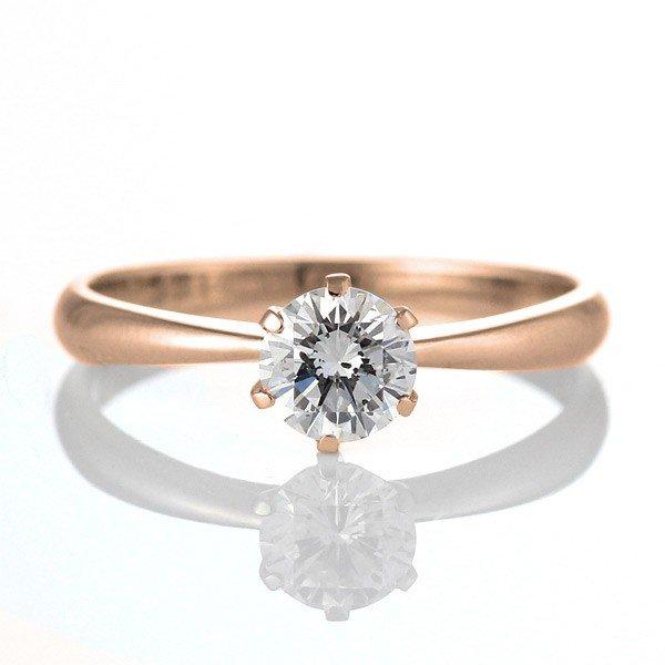 婚約指輪 エンゲージリング ダイヤモンド ダイヤ K18PG  リング【楽ギフ_包装】【DEAL】
