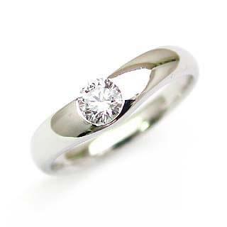 婚約指輪 エンゲージリング ダイヤモンド ダイヤ K18WG  リング【楽ギフ_包装】