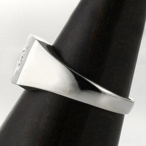 メンズ印台リング指輪ダイヤモンド0.10ct一粒プラチナリング男性用【楽ギフ_包装】【02P23Apr16】【母の日】