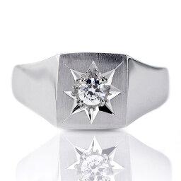 婚約指輪 印台リング 指輪 ダイヤモンド 0.20ct 一粒 プラチナ リング エンゲージリング【楽ギフ_包装】 末広 【今だけ代引手数料無料】