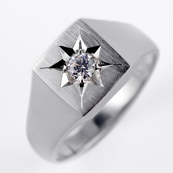 結婚指輪 印台リング 指輪 ダイヤモンド 0.20ct 一粒 K18ホワイトゴールド リング マリッジリング【楽ギフ_包装】