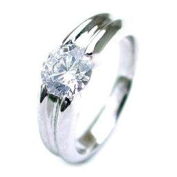 (Brand アニーベル) Pt ダイヤモンドデザインリング(婚約指輪・エンゲージリング)【楽ギフ_包装】 末広 【今だけ代引手数料無料】